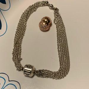 Pandora bracelet with clip